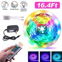 RGB LED tiras 16.4ft 32,8 pés 5050 tira luzes 5m 10m 30leds / m com controle remoto 44key