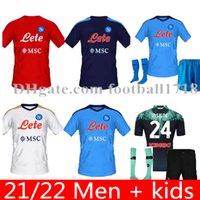 21 22 Napoli Fußball-Trikots Neapel Fußball-Hemd 2021 2022 Kulibaly Camiseta de Fútbol Insignente Maradona MAILLT FUCT MERERNS MATTEO POLITANO CAMISA