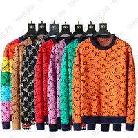 Mix Estilo 2021 Designer Outono Luxo Mens Sweater Roupa Pullover Slim Fit Moletom Casual Geometria Patchwork Cor Imprimir Moda Moda Lã de Lã de Lã