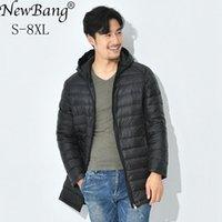 Newbang 7XL 8XL зима длинная утка пуховик мужские перья Parka Man ультра светлая куртка мужчины легкие теплые туповые куртки 201104