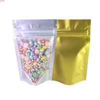 الجملة الحقيبة بالجملة أكياس Ziplock صغيرة جانب واحد الذهب ويندوز شفافة الأكياس البلاستيكية