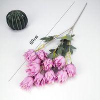 Fiori artificiali tessuto di seta festa di nozze casa fai da te decorazioni floreali di alta qualità grande bouquet artigianale falso fiore arredamento floreale HHC7053