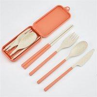 New Whitewat Steat Plegable Cubiertos Set Kids Cuchillo Tenedor Cuchara Palillos Portátiles Kits para Viajar y Camping LLD8231