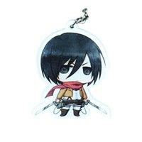 Zaino Pendants Key Chain Catena in silicone Anime Figura Portachiavi Accessori Attacco su Titan Mini Bambola Portachiavi portachiavi