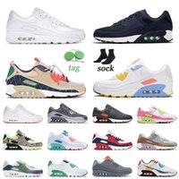 90 Spor Koşu Ayakkabıları Üçlü Beyaz Lacivert Trail Takım Altın Boyutu 12 Erkek Kadın Kabarcık Yeşil Ultramarine 90s Sneakers Eğitmenler