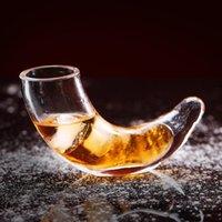 Verres de vin 30ml Creative Boire en verre de corne, coupe de corne, verre de whisky, s verre, verre à eau