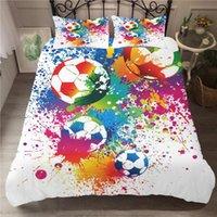 Bedding Sets Football Duvet Cover Soccer Edredon Futbol Single Printed Luxury Child Kids NO Bed Sheets Covers Linen