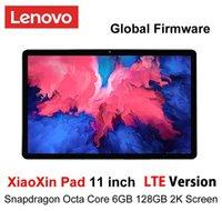 البرامج الثابتة العالمية Lenovo Xiaoxin Pad 11 Inch LTE Verison 2K شاشة LCD Snapdragon Octa Core 6GB RAM 128GB ROM Tablet Android 10 PC