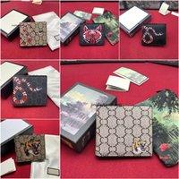 Neueste Männer und Frauen Leder kurze Brieftasche Slim Männliche Geldbörsen Geld Clip Kreditkarten Dollar Geldbörsen mit Kasten