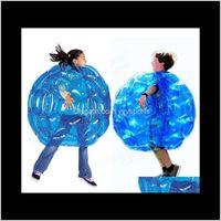 Отдых Досуг Спорт на открытом воздухе Drop Доставка 2021 Прибытие Игры Инструмент Надувные Тело Бампера Шарики PVC Воздушные Пузырьки Открытый Детский / Взрослый