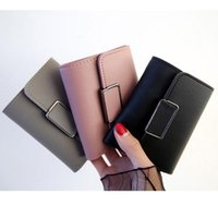 Wallets Small Womens Purse Students 3 Fold Wallet Female Short Paragraph Multifunctional PU Leather