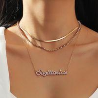 12 Konstellationen Anhänger Halskette Goldenes Horoskop Anhänger Multi Layer Strass Chokers für Halsketten Frauen Modeschmuck