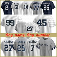 45 Gerrit Cole Derek Jeter New 2 York 99 Aaron Juez Hombres Wonen Jerseys de Béisbol Yankees Don Mattingly Williams 24 Gary Sanchez X2