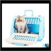 Carrierscrates Casas Casas portátil Portador Portacero Bolsa de mascotas Espacio grande transpirable Cat Transport Mochila Perrito Transportador para gatito LF2XZ