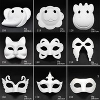 Makyaj Dans Beyaz Maskeleri Embriyo Kalıp DIY Boyama El Yapımı Maske Hamuru Hayvan Cadılar Bayramı Festivali Parti Maskeleri Beyaz Kağıt Yüz Maskesi FWA8397