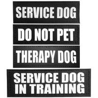 Теги для собак, ID-карты ID Tag Patches для воротника для домашних животных Жилет West Service в терапии Учебная патч