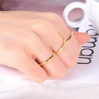 Cluster Rings Jewelry Drop Delivery 2021 Three Piece Set Womens Fashion Net Red Simple Personality Versatile Little Index Finger Ring Women