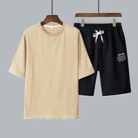 Track2021 T-shirt imprimé décontracté d'été Deux pièces Ensemble TZ1908
