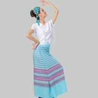 아시아 태평양 제도 민족 의상 여름 태국 태국 여성 의류 세트 전통적인 국가 댄스 착용 우아한 축제 파티 의류