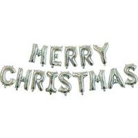 Palloncini da 16 pollici all'ingrosso palloncini natalizio foglio di alluminio palloncino anno decorazioni per feste