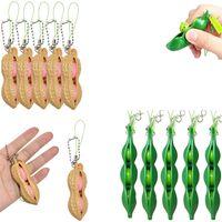Fidget Toy Squishies Bean Stress Reempreitador Descompressão Keychain Infinito Espremo Edamame Antistress Brinquedos Decorações Decorações Presente
