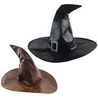 HALLOWEEN Wizard Witch Hat Masquerade Party Rings Необычное платье косплей костюм аксессуары для детей взрослый KDJK2107