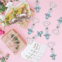 Angel Favory Keychains Merci tags Sacs-cadeaux Sacs-cadeaux Retour Précompense Baby Douche Douche Mariée Douche Mariage Cadeaux 1295 V2