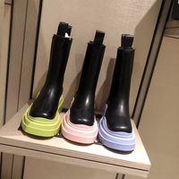 2021 Donne di lusso Stivali color caramelle Boots Moda Boot Tutta la pelle di vacchetta e la suola in TPU sono confortevoli da indossare con scatola taglia35-40
