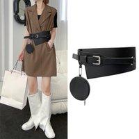 Belts Kywommnz Women Girdle Fashion Belt Bag Outside Corset Wide Streetwear Draw Back Thin Retro Small Waist S112