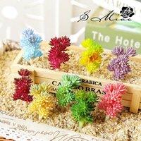 Decorative Flowers & Wreaths Artificial Succulents Plants Bonsai Flower Plastic Home Decoration Garden Wall Desktop