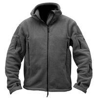 Giacca da uomo con cappuccio in pile tattico giacca da uomo con cappuccio con cappuccio