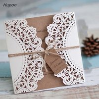 Greeting Cards 50Pcs Laser Cut Wedding Invitations Card Retro Vintage Bridal Shower Decor Gift Kits Event Party Supplies