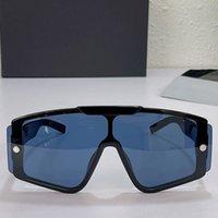 여자 남자 선글라스 패션 클래식 야외 블랙 원피스 프레임 블루 렌즈 안경 UNISEX UV 400 디자이너 최고 품질 원래 상자