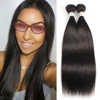 Virgin Human hair Brazilian 13*4 Lace Frontal Straight Curly 3&4 Bundles