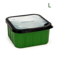 Fishing Accessories Green Tackle Box Maggot Bait Lure Hook Storage Boxes With Perforated Lids