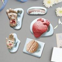 Halloween stampi cuore forma umana forma cerebrale candela cioccolato zucchero girando torta biscotto torta cottura al silicone stampo HWD10524