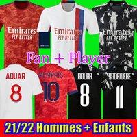 21 22 MAILLOT 4. 2021 2022 Fussball Jersey OL Digital Football Hemden TRAORE L.PAQUETA LE SOMMER Männer Kinder Kits Ausrüstung Bruno g Tops
