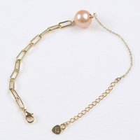 Real Natural Freshwater Pearl White Pink 925 Sterling Silver Charm Bracelet Gold Planted Adjustable Women's Gift Jewelry