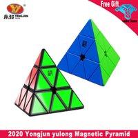 Wintopcubes يونغ جون يولونغ المغناطيسي ماجيك هرم مكعب يو جي v2m مغناطيس مثلث لغز سرعة مكعبات للأطفال أطفال هدية لعبة
