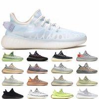 Высочайшее качество кроссовки MOMO ICE Zyon белье Светоотражающие yecheil черный V2 женщины мужские дизайнерские кроссовки Kanye West Sports