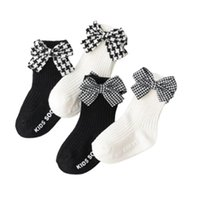 2021-01-15 Lioritiin Socks Toddler 0-3 ANOS Nascido Meninos Bebê Meninas Plus Size Bow Carta Imprimir Casual Não-Slip Underwear