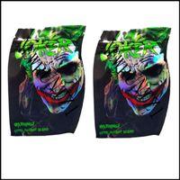 Holographische Joker Mylar-Aufbewahrungstasche wiederverschließbare leere Edibles riechdicht wasserdicht packags neueste kunststoff trocken kräuterverpackungspaket dhl schnell