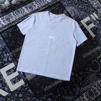 2021 Дизайнеры Мужские Женские футболки Поло отверстие изнашивается мужчина Парижская Футболка Футболка Высокое Качество Tees Street Короткая Рукав Люкс Футлины Белый Черный 05