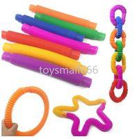 50pcs / DHL 3 cm tube sensoriel sensoriel fidget poptube torsadeurs twist Tubes jouet stress d'anxiété de soulagement extensible télescopique extension d 'extension dingue décompression jouets