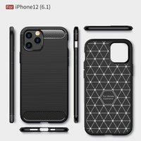 Carbon Fiber Cases For iPhone 11 12 Pro Mini X Xr Xs Max 6 6S 7 8 Plus Ultra thin TPU Phone Cover