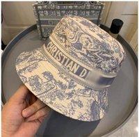 2021 Hombres diseñador Cubo Sombrero Colorido Impreso Vaquero Diseñadores Para Mujeres Sombreros Sun Hats Outdoor High Quality Luxury Sunhat