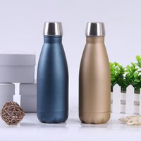 Outdoor Sports Water Bottle Frosted 350ml stainless steel vacuum coke thermos cup7Y8R