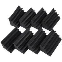 Стены наклейки 8 Pack из 4.6 в х 9,5 черные звукоизоляционные изоляции бас-ловушки акустическая пена студия плиток (8p