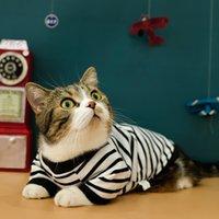 القط ملابس الصيف ارتداء نمط رقيقة الشعر الوسيم والدليل هريرة القط الأزرق منتجات الحيوانات الأليفة قصيرة ملابس الربيع ارتداء الصيف Weara6p1