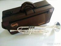 Bach Stradivarius Professional BB الفضة مطلي البوق LT180S-43 الفضة مطلي الأجهزة musicales profesionales لسان حال